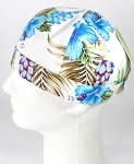 Brimless Docker Cap Wholesale - Hawaiian Hibiscus Floral - Blue