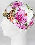 Brimless Docker Cap Wholesale - Hawaiian Hibiscus Floral - Pink