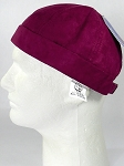 Wholesale Brimless Cap - Suede - Burgundy