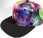Wholesale Snapback Hats - Galaxy Planets - Black Brim