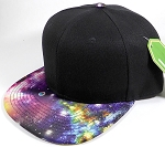 Wholesale Snapback Hats - Galaxy Planets - Black Crown