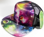 Wholesale 5 panel Trucker Snapback Hats - Galaxy Planets