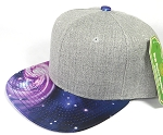 Wholesale Light Grey Denim Snapback Cap - Galaxy - Blue