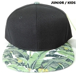 KIDS Jr. Banana Snapback Caps Wholesale - Black Crown