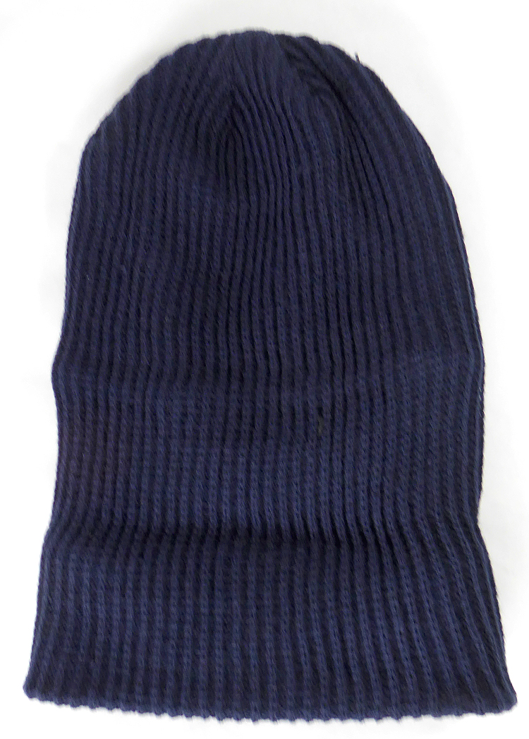 f951b63ad Wholesale Winter Knit Long Cuff Beanie Hats - Solid Navy