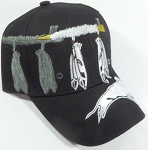 Wholesale Native Pride Baseball Caps - Peace Pipe and Buffalo
