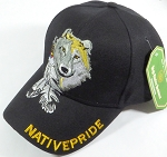 Wholesale Native Pride Baseball Cap - Wolf and Feathers