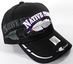 Wholesale Native Pride BallCap - Feather - Black
