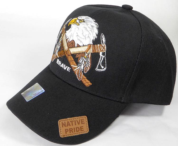 216f9f9842e Wholesale Native Pride Baseball Cap - Eagle and Axes - Black. Native Pride  - Eagle and Axes