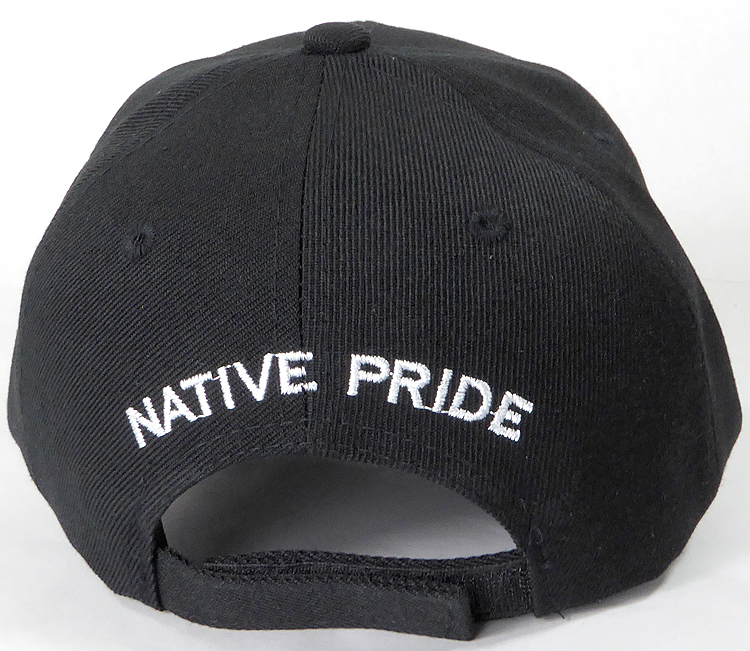 8eae315d5f2 Wholesale Native Pride Baseball Cap - Chieftain Skull - Black. Native Pride  - Chieftain Skull
