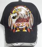 32a2c16c259 Wholesale Native Pride Baseball Cap - Eagle Dream Catacher - Black