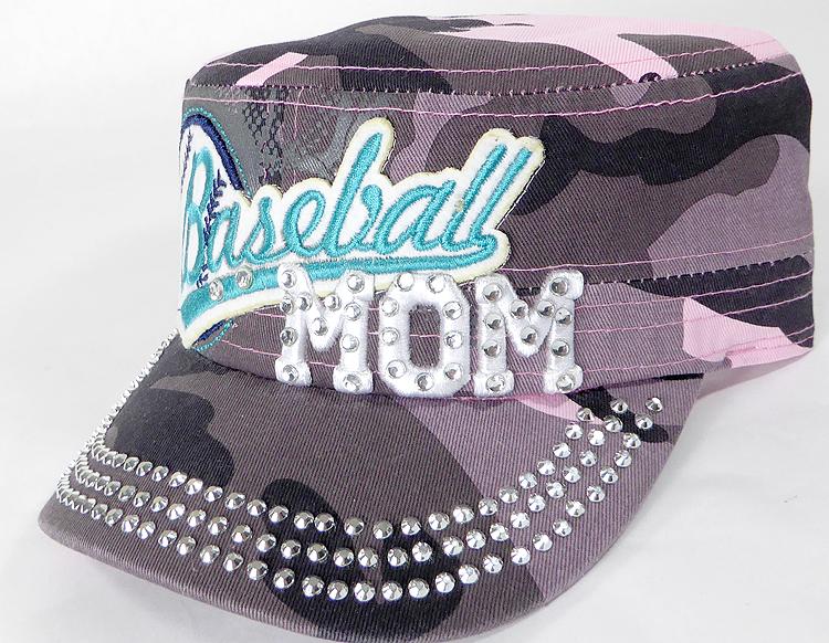 Wholesale Rhinestone Baseball MOM Cadet Cap - Pink Camo 7e472ddd511c