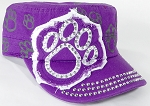 Wholesale Rhinestone Paw Cadet Hats - Purple