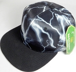 Wholesale Thunder Blank Snapback Caps - Original Black - Black Bill