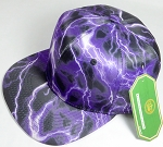 Wholesale Thunder Blank Snapback Caps - Purple - Solid