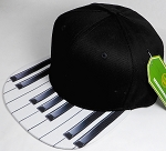 Wholesale Cotton Blank Snapback Hat - Piano Brim