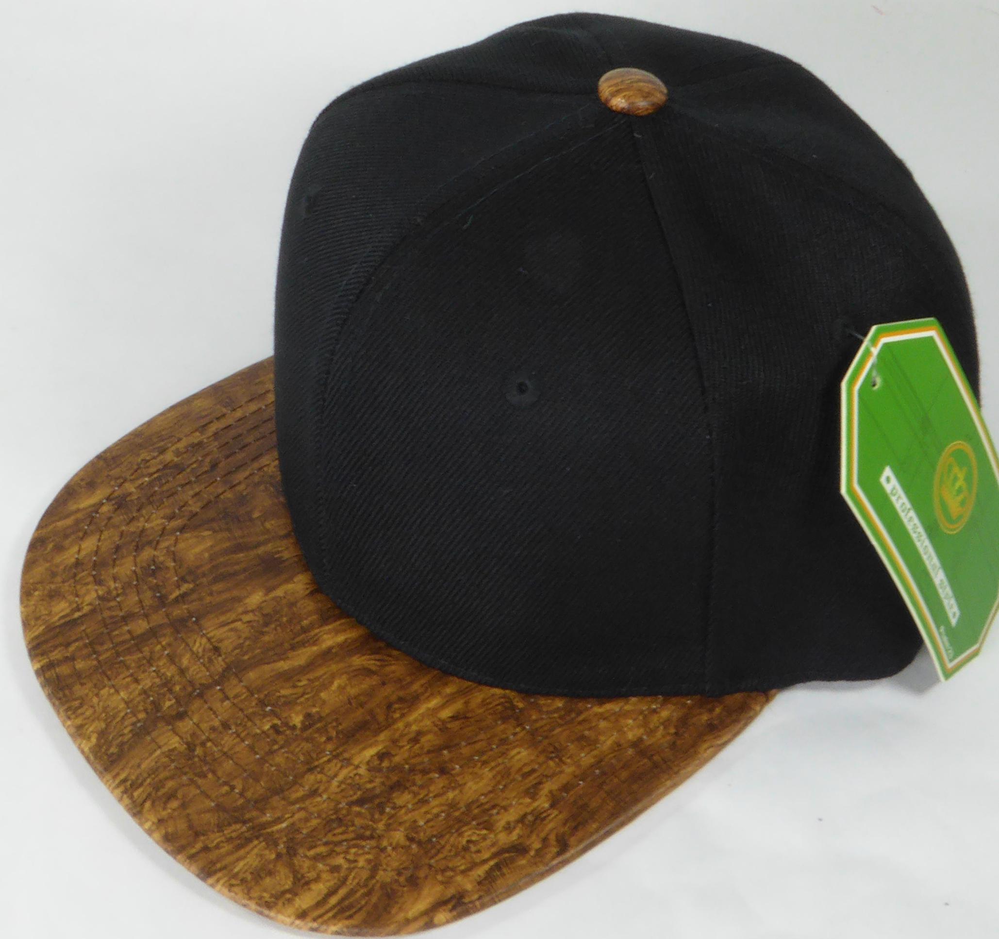 7d40e85dab34e Wholesale Blank Snapback Caps - Brown Oak Woodbrim