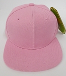KIDS Junior Wholesale Blank Snapback Hats  - L.Pink