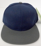 KIDS Junior Wholesale Blank Snapback Hats  - Navy / D.Grey