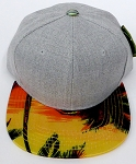 KIDS Jr. Plain Snap back Hats Wholesale - Denim Grey -Hawaiian Sunset