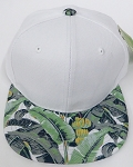 KIDS Jr. Plain Snap back Hats Wholesale - White Banana Brim