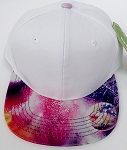 KIDS Jr. Plain Snap back Hats Wholesale - White Galaxy Rain Bow