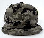 KIDS Junior Wholesale Blank Snapback Hats  - Charcoal Camo