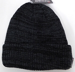 Wholesale Winter Knit 3M License Long Cuff Beanie Hats - Mixed Black