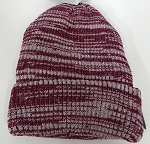 Wholesale Winter Knit 3M License Long Cuff Beanie Hats - Mixed burgandy