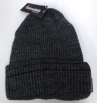 Wholesale Winter Knit 3M License Long Cuff Beanie Hats - Mixed D.Grey Black