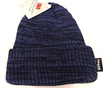 Wholesale Winter Knit 3M License Long Cuff Beanie Hats - Mixed Navy