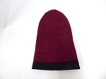 Wholesale Beanies Wholesale | Sideline Knit  Long Cuff Beanie Hats 2-tone -Burgandy black