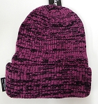 Wholesale Winter Knit 3M License Long Cuff Beanie Hats - Mixed Pink Black