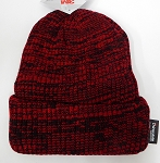 Wholesale Winter Knit 3M License Long Cuff Beanie Hats - Mixed Red Black