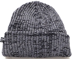 Wholesale Winter Knit Long Cuff Beanie Hats - Mixed D.Grey