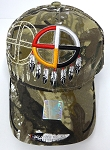 Wholesale Native Pride Baseball Cap - Medicine Wheel -Camo