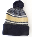 Beanies Wholesale | Pom Pom Beanies Trendy Winter Hats -Khaki Navy