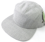 Wholesale Blank 5-Panel Denim Camp Hats Caps - Light Grey Denim