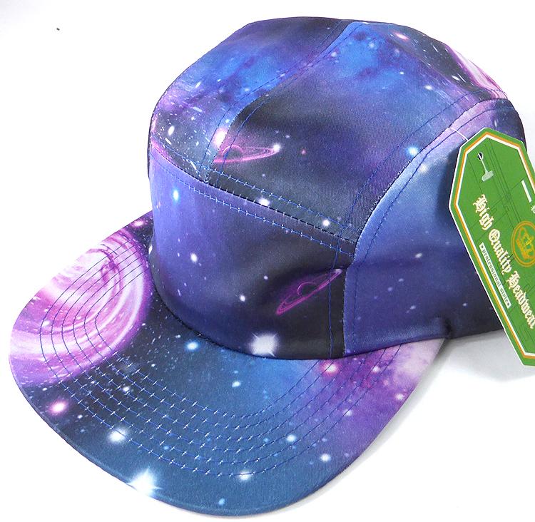 Wholesale Blank 5 Panel Camp Hats Caps Galaxy Blue