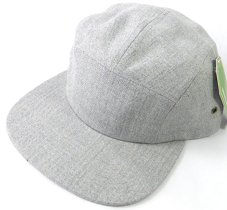 de20c0f6678 Wholesale Blank 5-Panel Denim Camp Hats Caps - Light Grey