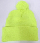 Pom Pom Beanies Wholesale Hats - Neon yellow