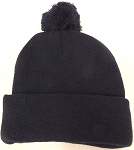 Beanies Wholesale | Pom Pom Beanies Trendy Winter Hats - SOLID  Navy