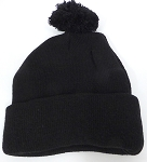 Beanies Wholesale | Pom Pom Beanies Trendy Winter Hats - SOLID Black