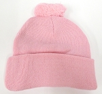 Beanies Wholesale | Pom Pom Beanies Trendy Winter Hats - SOLID L.Pink