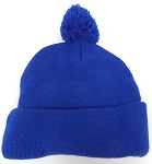 Beanies Wholesale | Pom Pom Beanies Trendy Winter Hats - SOLID  Royal Blue