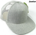 KIDS Junior Denim Trucker Snapback Caps - Light Grey Denim
