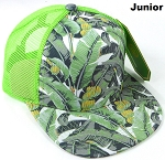 KIDS Junior Floral Trucker Snapback Caps - Banana