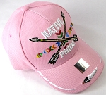 Wholesale Native Pride Baseball Cap - Crossed Arrows - Pink