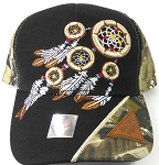 Wholesale Native Pride Baseball Cap - Dreamcatcher - Black Camo