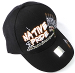Wholesale Native Pride Baseball Cap - Chieftain's Peace Pipe - Black